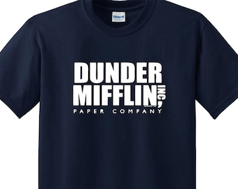DUNDER MIFFILIN The Office Schrute Scott Geek Tee Shirt FUnny College Custom 5 COLORS dvd