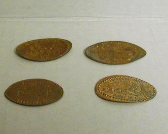 4 flat pennies