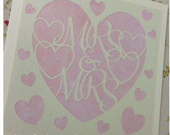 Mrs and Mrs Paper Cutting Template - Commercial Use
