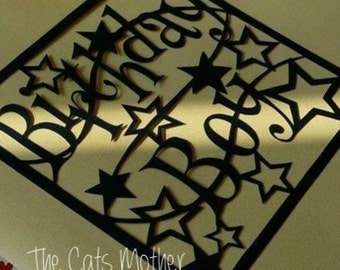 Birthday Boy Stars Paper Cutting Template - Commercial Use