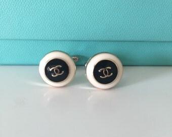 Chanel button cufflinks
