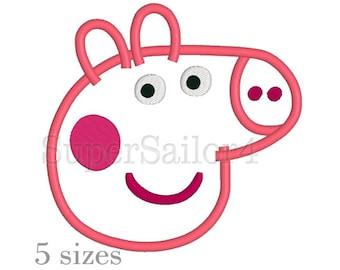Peppa Pig applique design