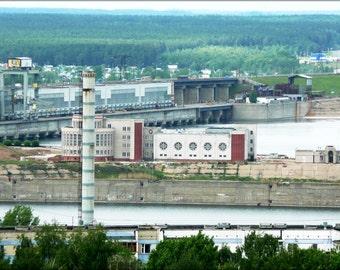 24x36 Poster . Hydroelectic Power Station In Naberezhnye Chelny