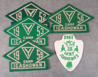 1950s YMCA Camp Icaghowan Patches