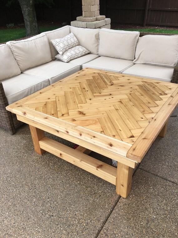 Rustic Cedar Coffee Table - Cedar Coffee Table