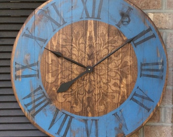 Decorative Wall Clocks, Large Wall Clocks, Unique Wall Clock, Rustic Decor,  Large Wall Clock, Rustic Wall Clocks