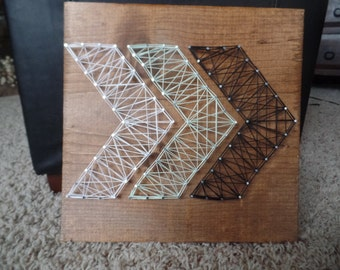 Chevron string art