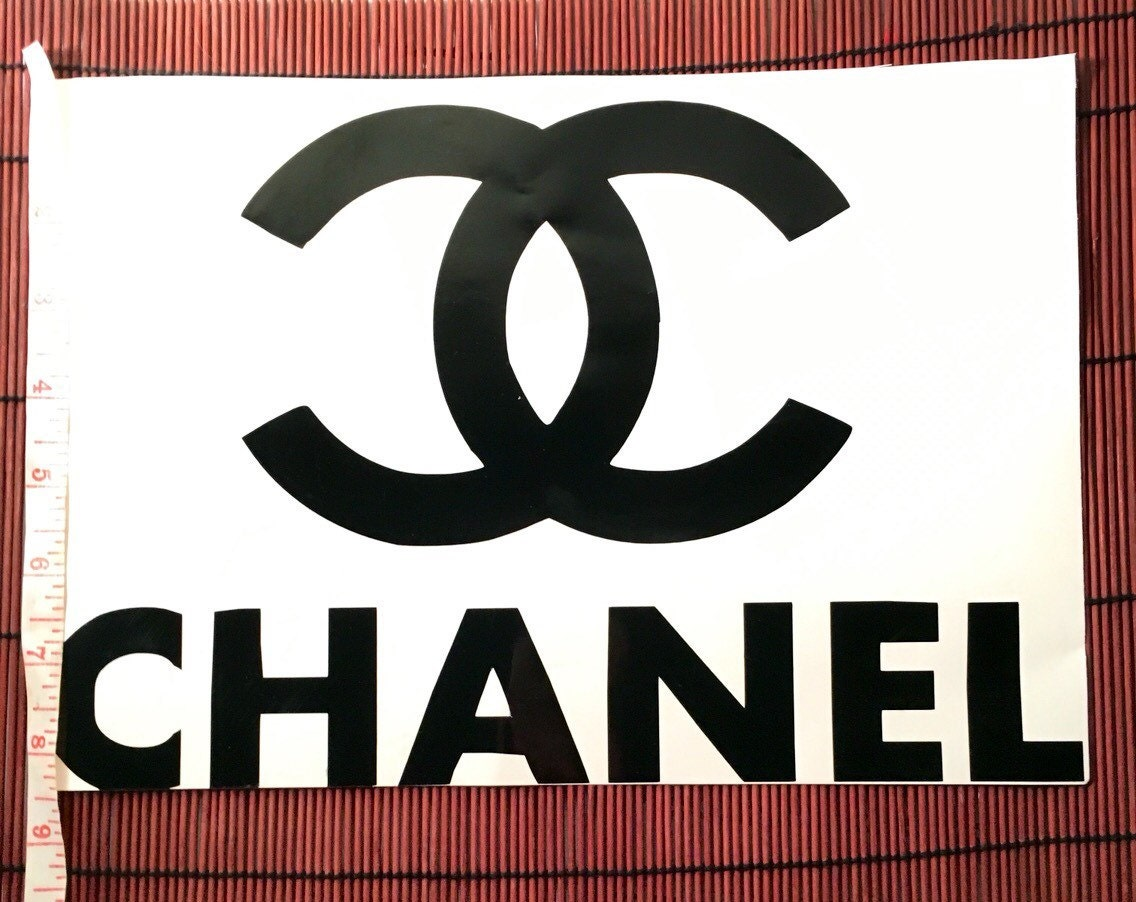 large chanel logo decal by lunalshop on etsy