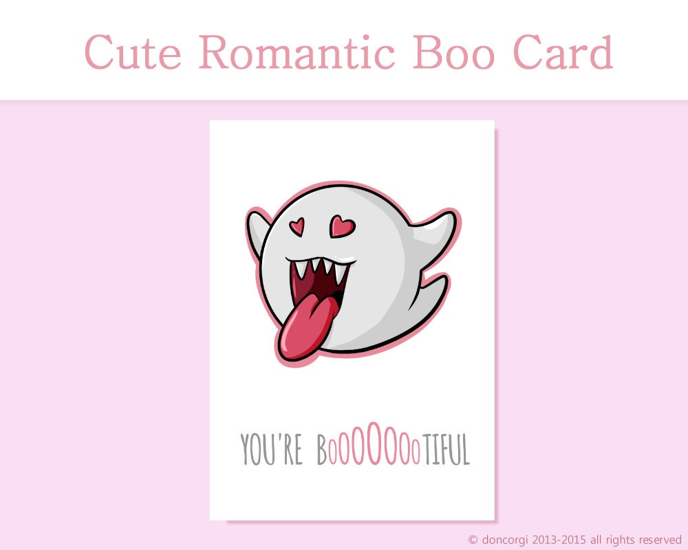 Romantic Mario Card Youre Bootiful Printable Card – Print Your Own Valentines Card