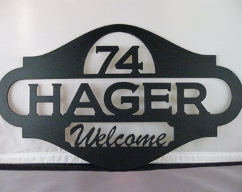 Address Sign, House Sign, Metal Sign, Metal Wall Art, Family Sign, Custom Sign, Name Sign, Welcome Sign