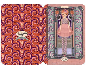 5 Designer greeting Cards with envelope by Oxfordoll
