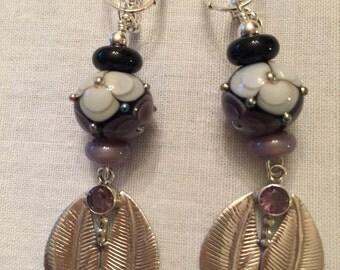 Lampwork Sterling silver earrings sets