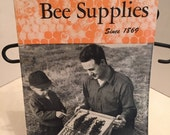 Vintage Ephemera, Bee Supplies Catalogue, Black and White Pages, Collage, Scrapbooking, Mixed Media, GA915