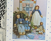 Mr. and Mrs. Raggedy Andy and Family Pattern, Fun for Sewing, Great for Shops #547 OK