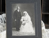 Antique Wedding Photo, Altered Art, Assemblage, Mixed Media, Scrapbooking, Wedding Pages, Bride and Groom  #551