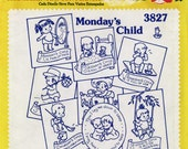 Embroidery Transfers, Unused, OOP For Embroidery, Art, Cardmaking, Scrapbooking, Not Just For Embroidery Anymore Monday's Child #22