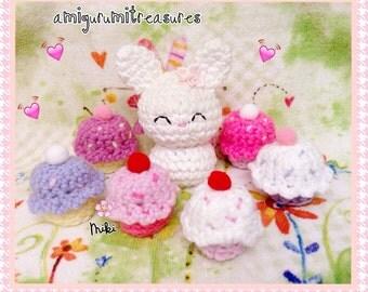 Kawaii Amigurumi Cupcake Keychain : Items similar to Cupcake Plush no. 426 on Etsy