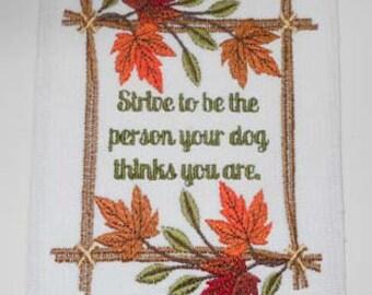Embroidered Wall Saying