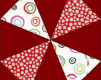 Pretty Pinwheel Block Pattern - Quilt Block - Instant Download - Paper Pieced Pattern - Foundation Pattern - Quilt Pattern - Block Pattern