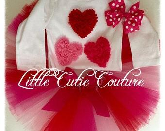 Valentine's Day Tutu Outfit, Valentine's Tutu