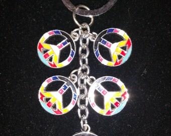 Peace Rainbow Keychain