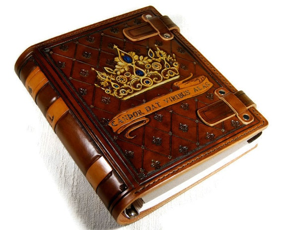 Custom Personalized Leather Book Journal Notebook Diary Family