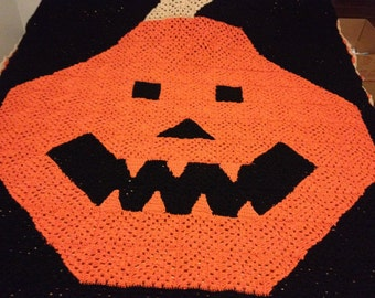 Halloween Pumpkin Blanket
