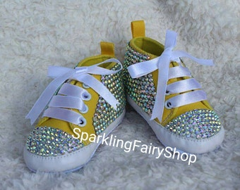Handmade baby bling shoes