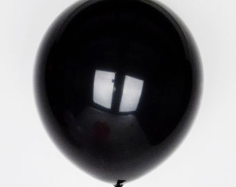 10 black balloons