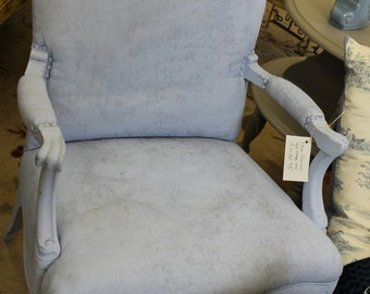 Vintage Chair Painted Blue All Over***Ask about shipping