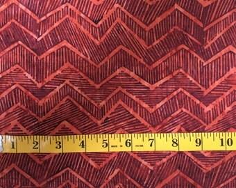 Desert orange res zigzag batik