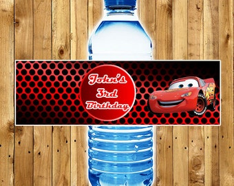 CARS Water Bottle Labels / Printable CARS Water Bottle Labels / Birthday Party Water Bottle Labels
