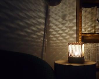 Lace lamp geometric pattern
