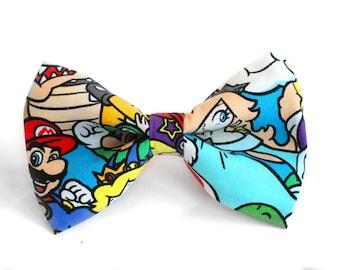 Mario Bow Tie | Superhero Bow Tie | Mens Bow Tie | Boys Bow Tie | Dog Bow Tie | Luigi | Gift | Wedding Bow Tie