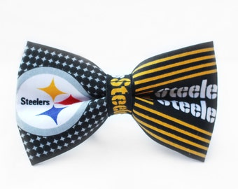 Pittsburgh Steelers Bow Tie | NFL Bow Tie | Bowtie | Football Bow Tie | For Him | Gift for Him | Sports Bow Tie | NFL | Boys Bow Tie