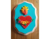 Hand painted sacred heart