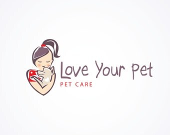 Animal Care Business Logo, Premade Dog Grooming or Pet Sitter Logo, Veterinarian Business Logo, Customizable Animal Shelter Logo, Pet Care