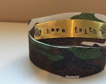 Military Hope : Double Wrap Bracelet