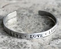 Live Love Lift Bracelet, Lifting Weights Fitness Jewelry Beastmode Love to Lift Workout Bracelet, Bodybuilder jewelry Figure Competition