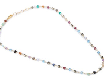 Semi precious beads necklace for women / wedding /gift / Valentin's day