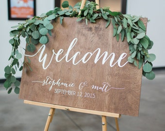 Wedding Welcome Sign, Wedding Wood Welcome Sign, Wedding signs, Wood Wedding Sign, Wooden Wedding Signs, Wood, Rustic Wood Wedding Sign
