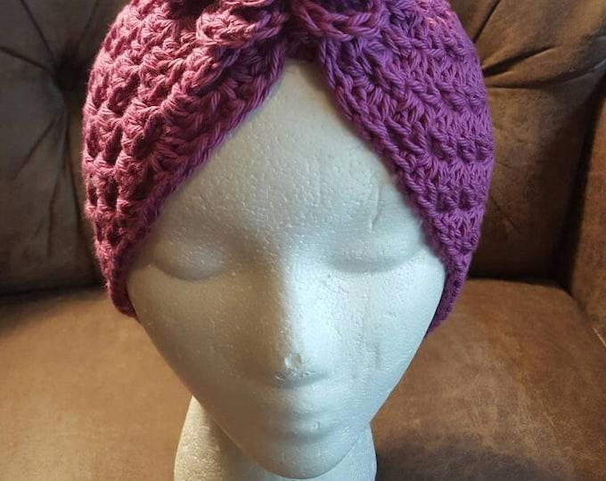Hand Crochet Turban Chemo Hat