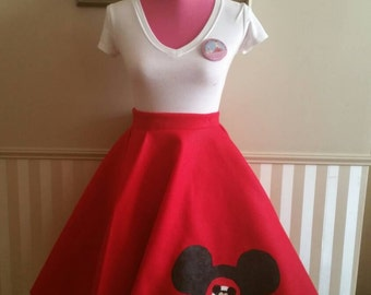 Mickey Mouse Mouseketeer Skirt