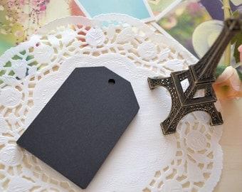 Handmade DIY Blank Large BLACK Gift Tags/Gift Wrapping Tags/15PCS