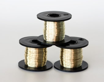 1624_Jewelry wire 28 gauge, Yellow gold wire 0.315mm, Golden wire spool, Coloured copper wire, Craft wire Silver plated wire Copper wire_70m