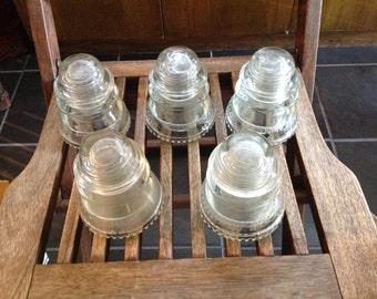 HEMINGRAY - 42, Cleae Glass Insulator Telephone/Telegraph