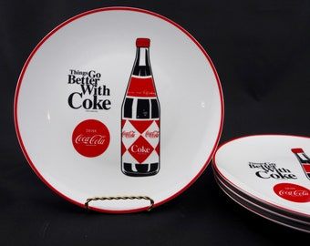 Vintage Coca Cola Plate, Things Go Better With Coke