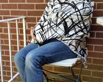 Modal t-shirt weight breastfeeding cover, ink splatters