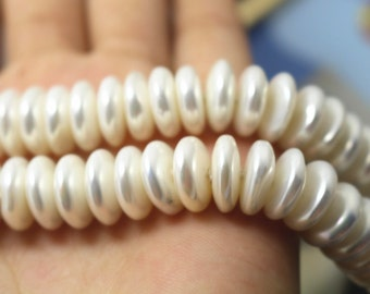 12 mm South Sea Shell Pearls Rondelle Beads,Abacus shell pearl beads,15 inches 1 strand