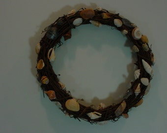 Ocean Shell Wreaths...base of natural Grapevine